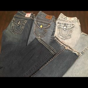 True Religion jeans. All 3 pair for one price